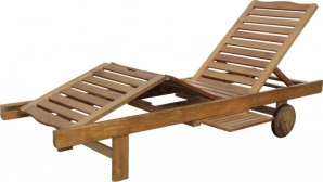 Dřevěné zahradní lehátko polohovací