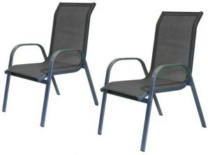 Happy Green Zahradní židle antracitová 2ks